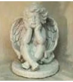 Statue - Cherub With Hands On Chin