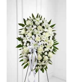 White Standing Funeral Spray