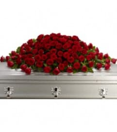 Teleflora's T223-1A Greatest Love Casket Spray