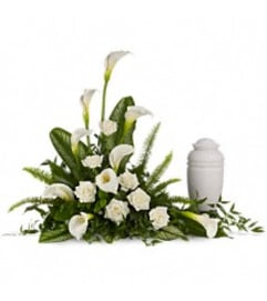 Teleflora's T217-1A Stately Lilies Cremation Tribute