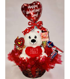 Valentines Snack and Gift Basket