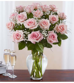 Beautiful Long Stem Pink Roses
