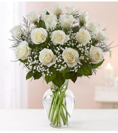 Beautiful Long Stem White Roses