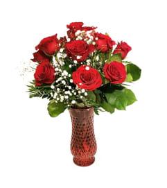 12 Classic Red Premium Roses