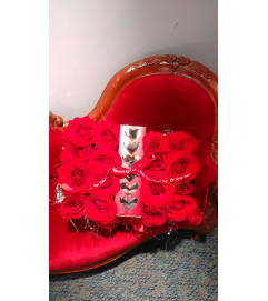 Valentine box of red roses with Chocolates