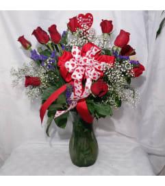 roses vased