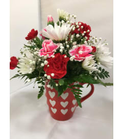 Hearts and Flowers Mug