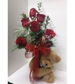 Honey Bear Valentine Hug