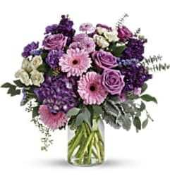 Teleflora's T281-6 Magnificent Mauves Bouquet