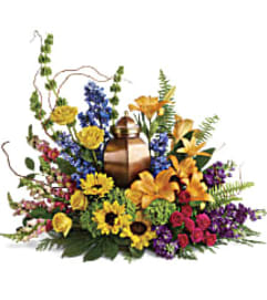Teleflora's T282-4A With All Our Hearts Cremations Tribute