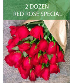 Wrapped Red Rose Special- 2 dozen