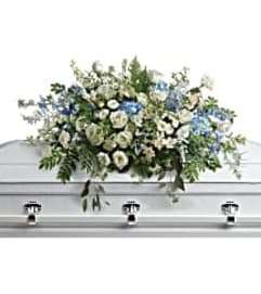 Teleflora's T283-6A Tender Remembrace Casket Spray