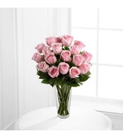 Long Stem Pink Rose Bouquet Eighteen Roses