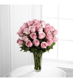 :ong Stem Pink Rose Bouquet Two Dozen