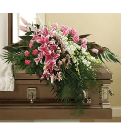 Her Honor Casket Spray