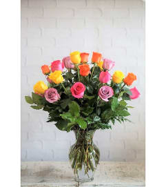 2 Dozen Mixed Roses