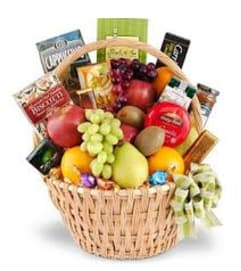 BASKET OF FRUIT AND GOURMET