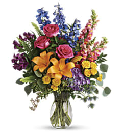 A Colors Of The Rainbow Bouquet