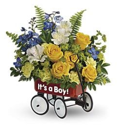 A Sweet Little Wagon Bouquet
