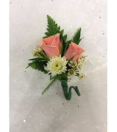 Bout 7 - Pink spray roses, button pom accent (pick up only)
