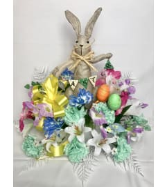 Easter Bunny Graveside Silk Pillow