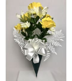 Graveside Silk Bouquet (Yellow)