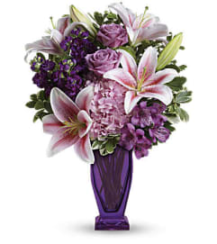 A Blushing Violet Bouquet