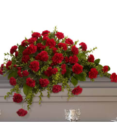 Casket Spray-Red Carnations