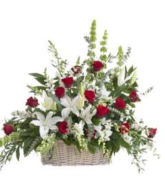 Cherished Farewell-Floor Basket