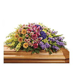 A Garden of Sweet Memories Casket Spray