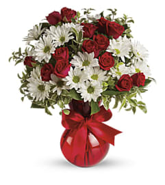 Red, White And You Bouquet