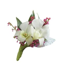 Wedding Dendrobium White Orchid Boutonniere