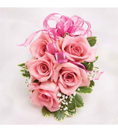 Prom Pink Rose Corsage