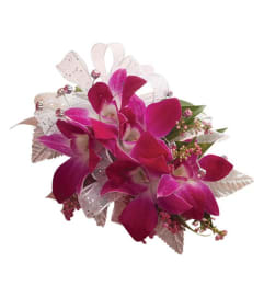 Prom Dendrobium Purple Orchid Corsage