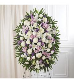Sympathy Lavender & White Standing Spray