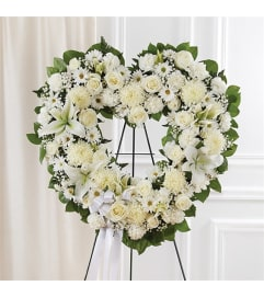 Sympathy Always Remember Standing Heart White