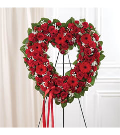 Sympathy Always Remember Standing Heart Red