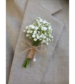 Baby's Breathe Boutonniere