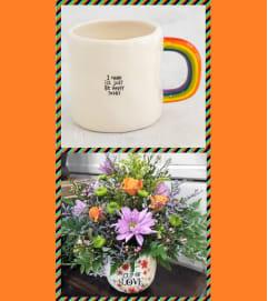 Rainbow Mug-Happy