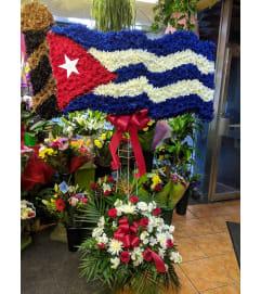 Cuban Flag Waving