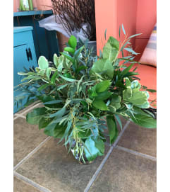 Lori's Vase of Assorted Greenery