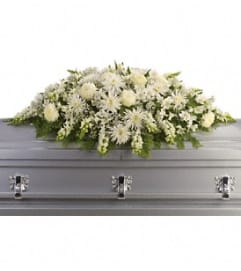 Enduring Light Casket Spray White