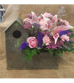 Birdhouse Full of Flowers