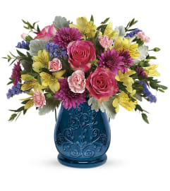 Teleflora Burst of Blue by tcg