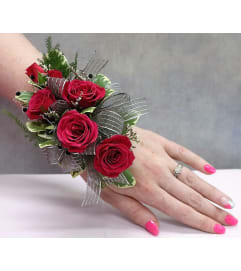 Fuschia Rose Corsage/Boutonnieres