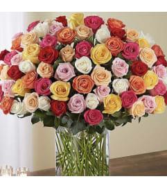Premium 100 assorted roses