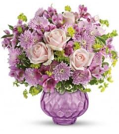 Elegant Lavender Chiffon