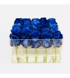 Acrylic Box of  25 roses