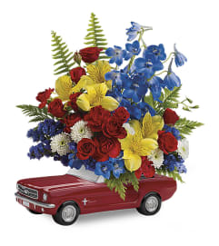 Mustang Full Of Flowers