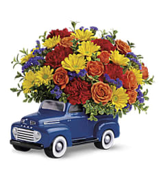 Ford Pickup Full Of Flowers
